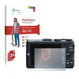 3x Vikuiti MySafeDisplay Screen Protecto Sony Cyber-shot DSC-HX60