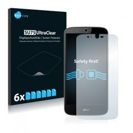 6x SU75 UltraClear Screen Protector Acer Liquid Zest Plus