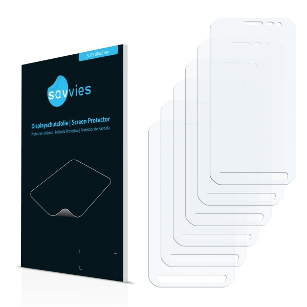 6x SU75 UltraClear Screen Protector Samsung Galaxy Xcover 3