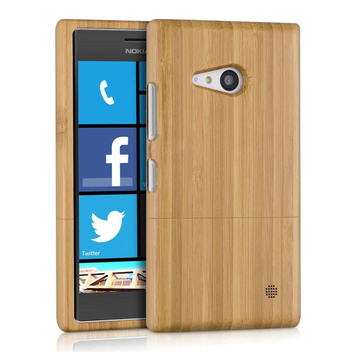 Pouzdro pro Nokia Lumia 730 / 735 bambus