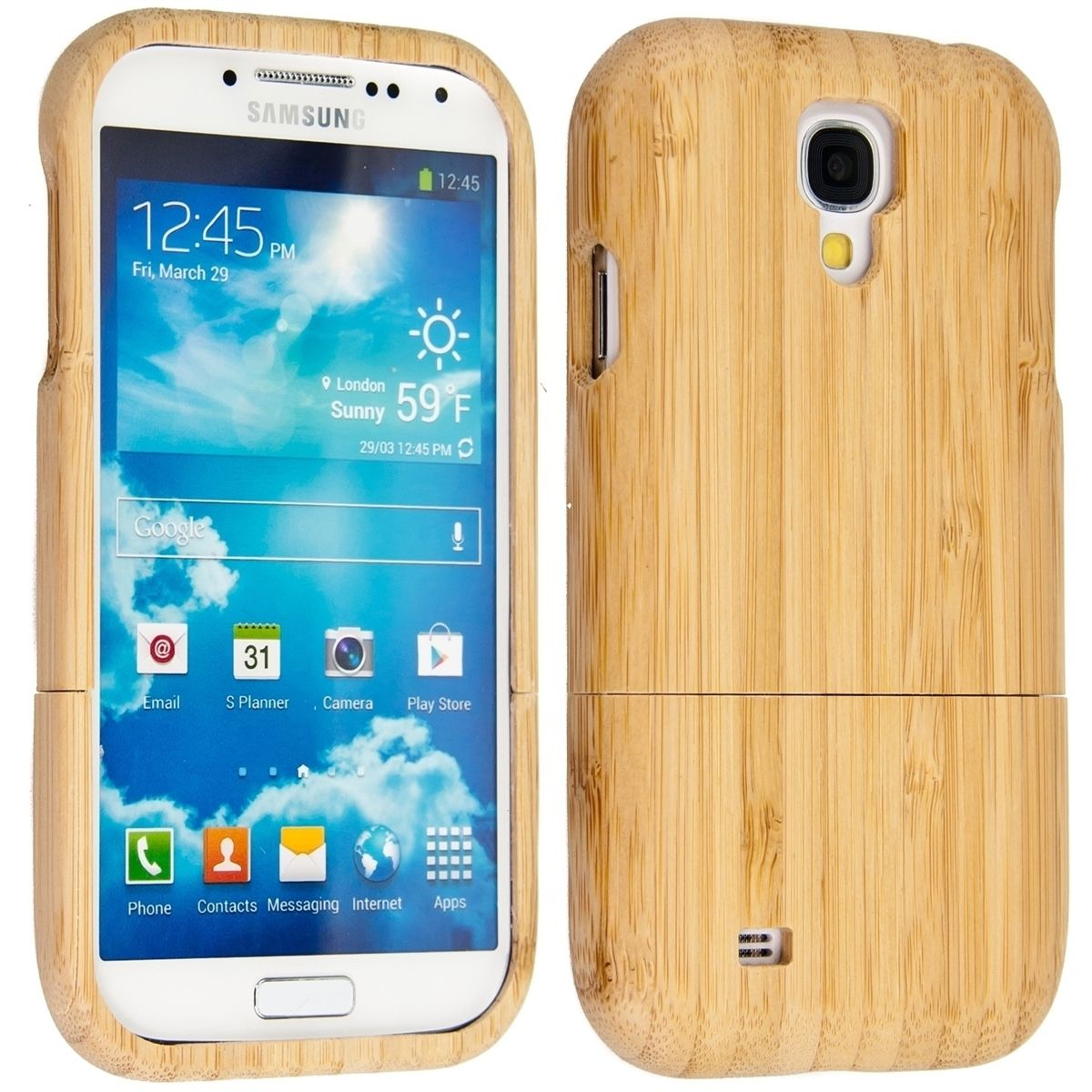 Pouzdro pro Samsung Galaxy S4 i9505 / i9506 LTE+ bambus