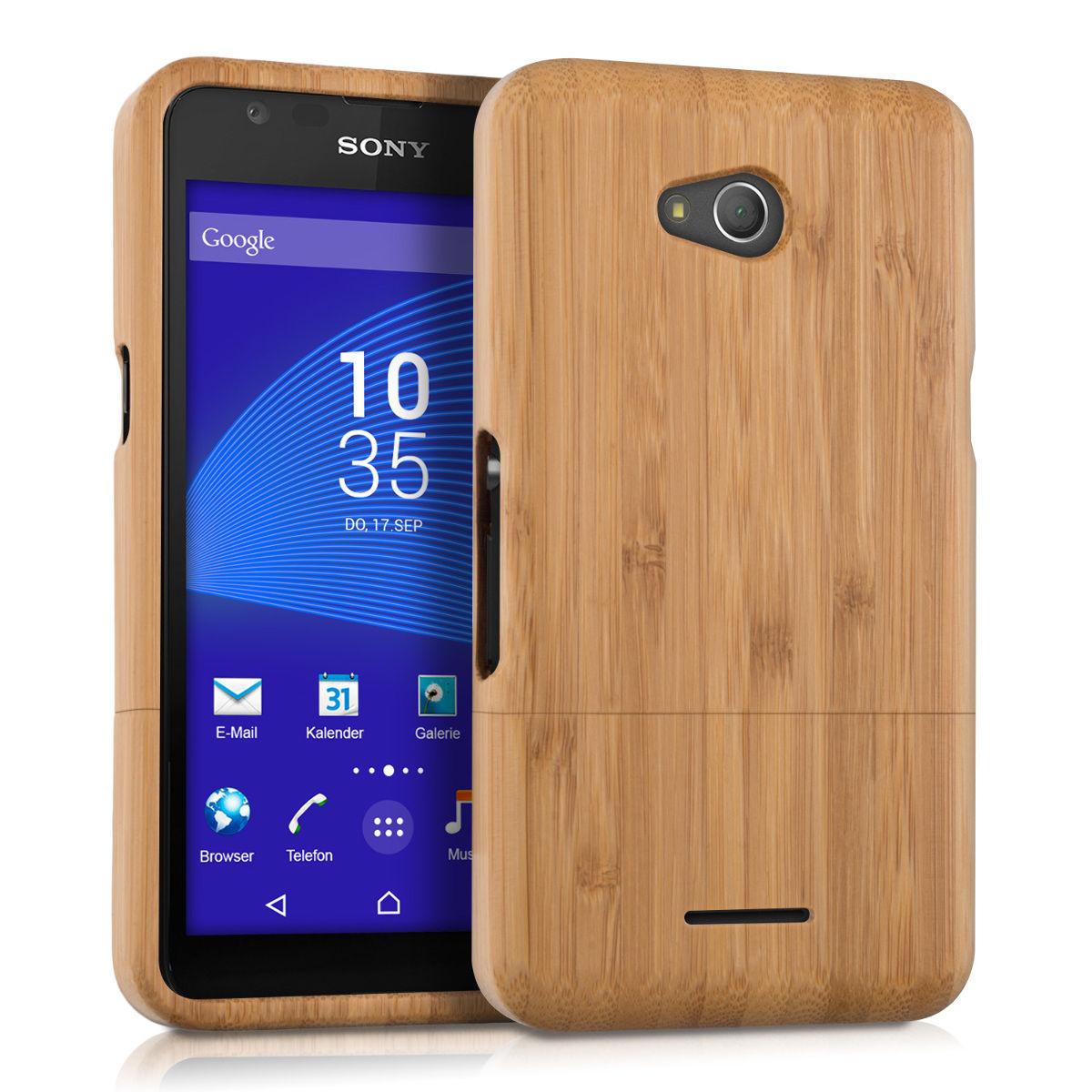Pouzdro pro Sony Xperia E4g bambus