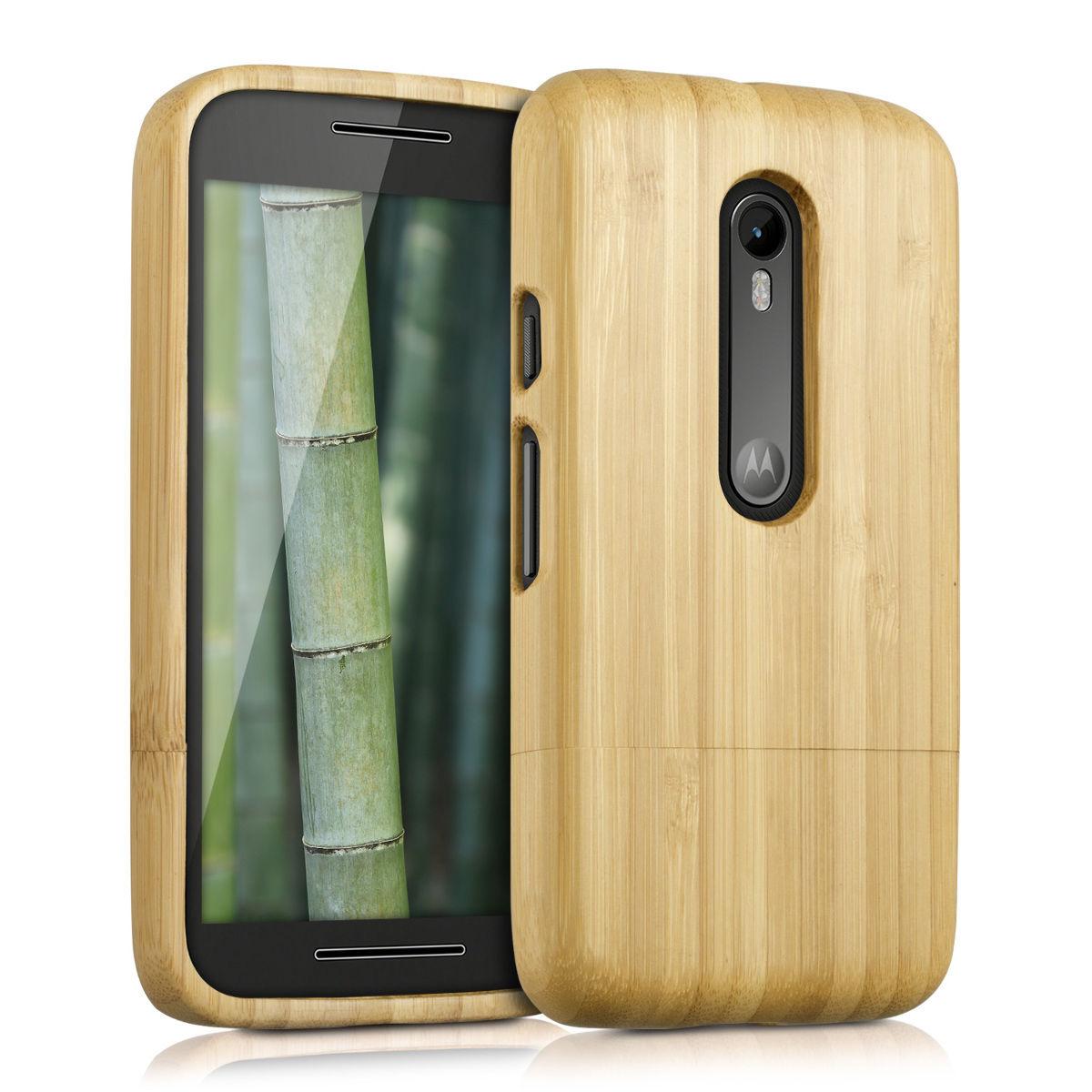 Pouzdro pro Motorola Moto G (3. Gen) bambus