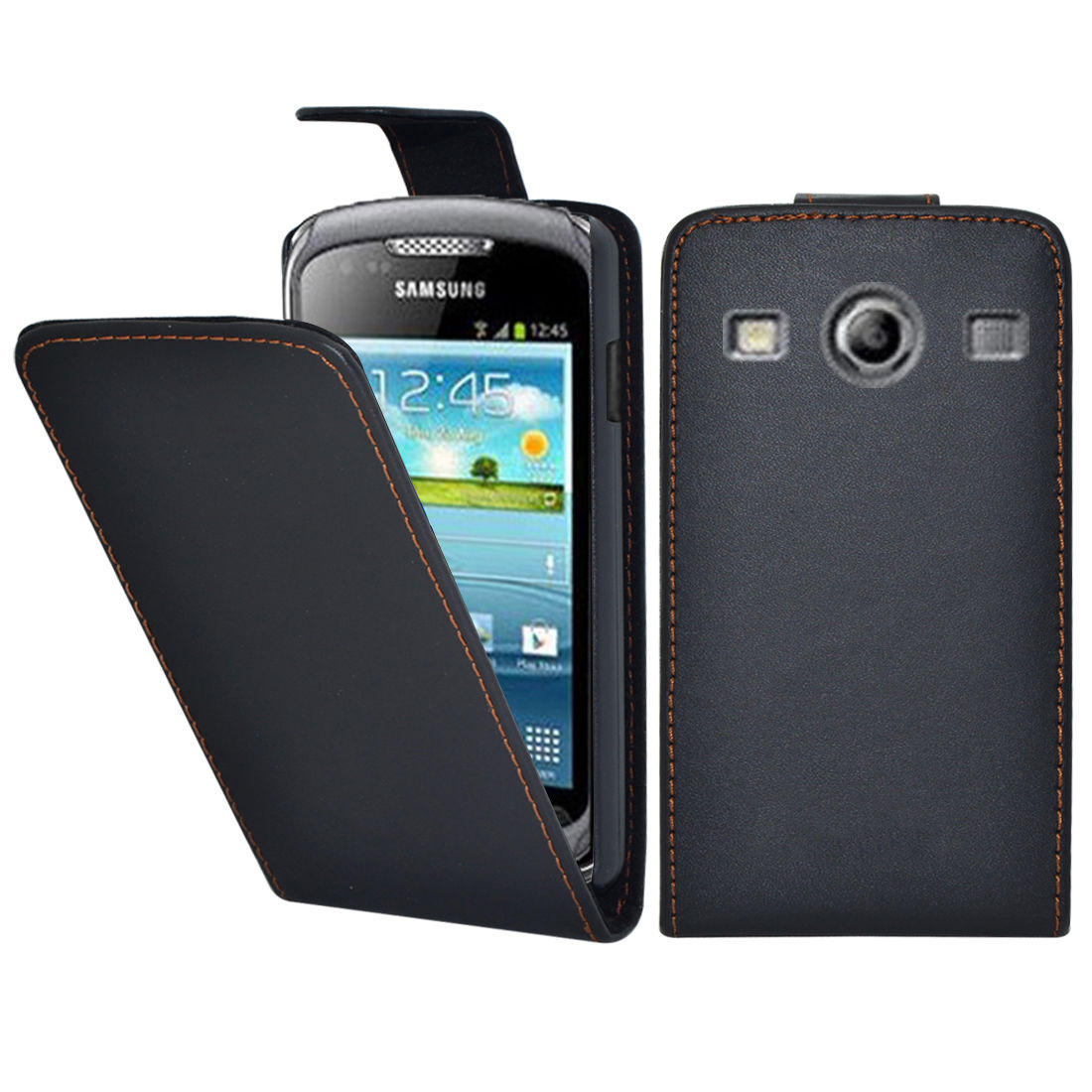 Pouzdro FLIP pro Samsung Galaxy Xcover 2 S7710 černé
