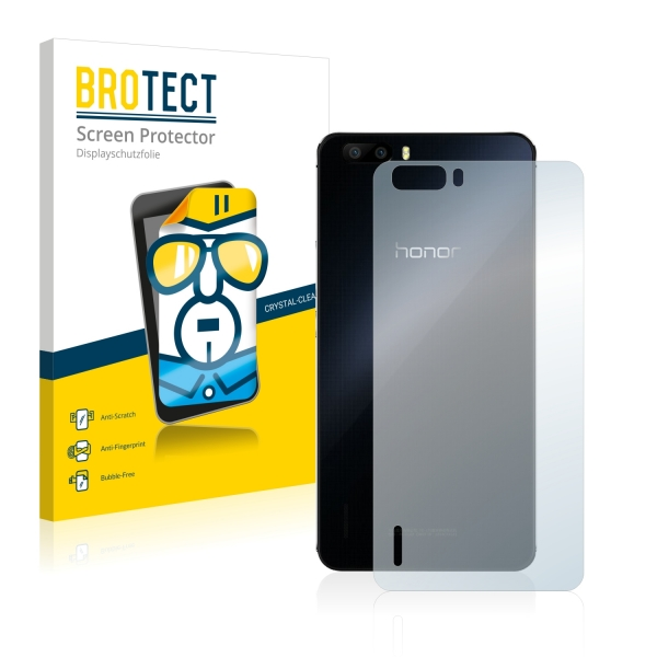 2x BROTECTHD-Clear Screen Protector Huawei Honor 6 Plus back
