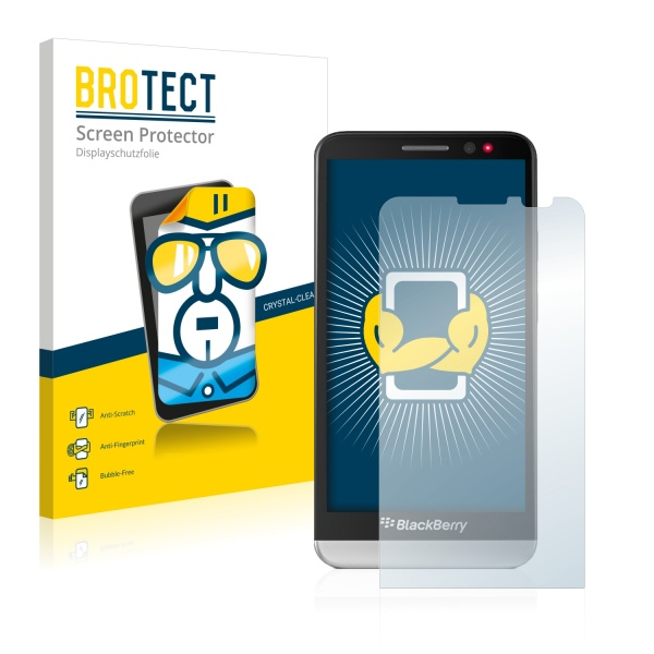 2x BROTECTHD-Clear Screen Protector BlackBerry Z30