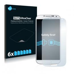 6x SU75 UltraClear Screen Protector Samsung Galaxy S4 I9500