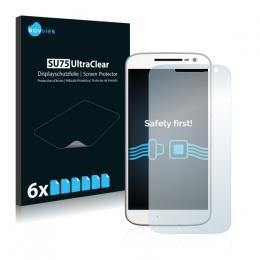 6x SU75 UltraClear Screen Protector Motorola Moto G4
