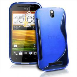 Pouzdro GEL pro HTC One SV modré - zvìtšit obrázek