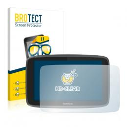 2x BROTECTHD-Clear Screen Protector TomTom GO 6200