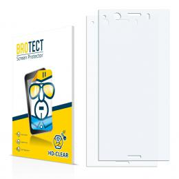 2x BROTECTHD-Clear Screen Protector Sony Xperia XZ1 Compact