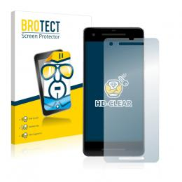 2x BROTECTHD-Clear Screen Protector Google Pixel 2