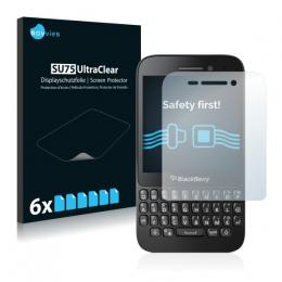 6x SU75 UltraClear Screen Protector BlackBerry Q5