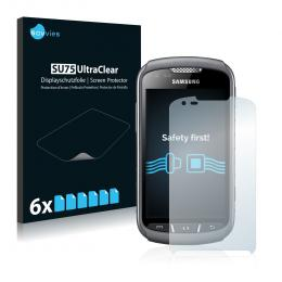 6x SU75 UltraClear Screen Protector Samsung Galaxy Xcover 2 S7710