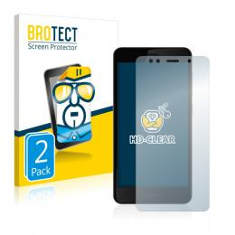 2x BROTECTHD-Clear Screen Protector Gigaset GS180
