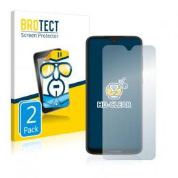2x BROTECTHD-Clear Screen Protector Motorola Moto G7