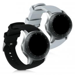 Náhradní øemínky pro Samsung Galaxy Watch Active èerný / šedý
