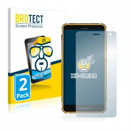2x BROTECTHD-Clear Screen Protector RugGear RG650