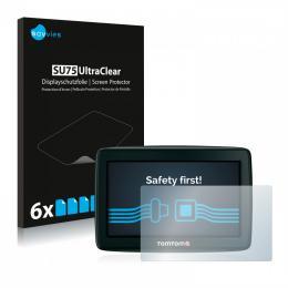 6x SU75 UltraClear Screen Protector TomTom Start 25 Europe Traffic