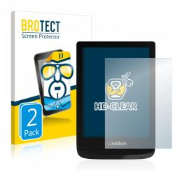 2x BROTECTHD-Clear Screen Protector PocketBook Touch Lux 4