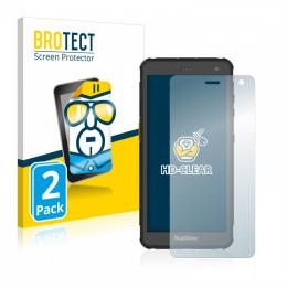 2x BROTECTHD-Clear Screen Protector RugGear RG655