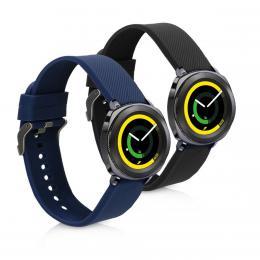 Náhradní øemínky pro Samsung Gear Sport èerný / modrý