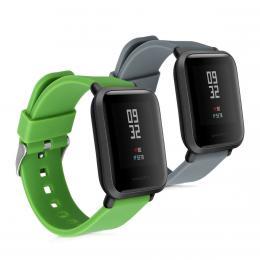 Sada 2ks øemínkù pro Xiaomi Amazfit Bip šedý / zelený