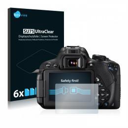 6x SU75 UltraClear Screen Protector Canon EOS 700D