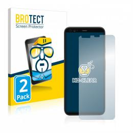 2x BROTECTHD-Clear Screen Protector Google Pixel 4