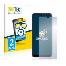 2x BROTECTHD-Clear Screen Protector Motorola Moto E6 Plus