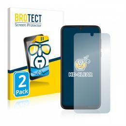 2x BROTECTHD-Clear Screen Protector Motorola Moto G8 Plus