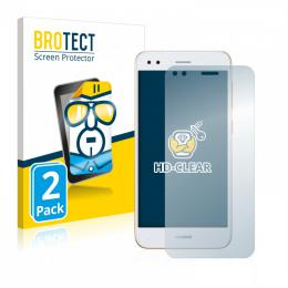 2x BROTECTHD-Clear Screen Protector Huawei P9 Lite Mini