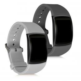 Sada 2 ks øemínkù pro Samsung Gear Fit2 šedé