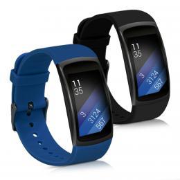 Sada 2 ks øemínkù pro Samsung Gear Fit2 èerný / modrý