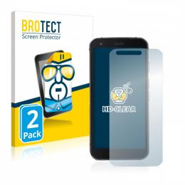 2x BROTECTHD-Clear Screen Protector Caterpillar Cat S62 Pro