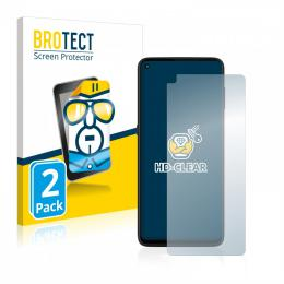 2x BROTECTHD-Clear Screen Protector Motorola Moto G9 Plus