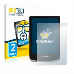 2x BROTECTHD-Clear Screen Protector PocketBook 633 Color