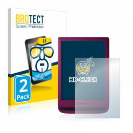 2x BROTECTHD-Clear Screen Protector PocketBook Touch Lux 5