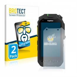 2x BROTECTHD-Clear Screen Protector RugGear RG725