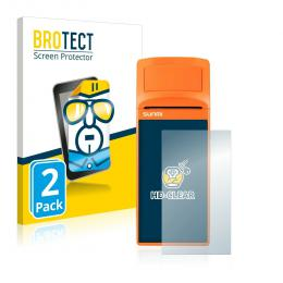2x BROTECTHD-Clear Screen Protector Sunmi V1s