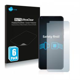 6x SU75 Ultra Clear Screen Protector ZTE Blade V2020 5G