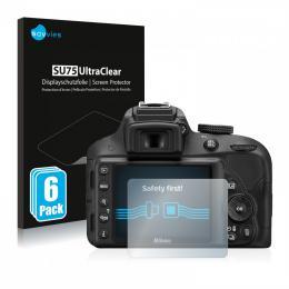 6x SU75 UltraClear Screen Protector Nikon D3300