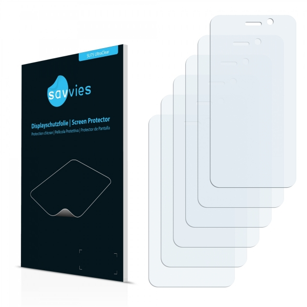 6x SU75 UltraClear Screen Protector GoClever Quantum 4