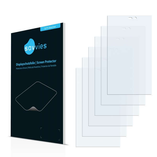 6x SU75 UltraClear Screen Protector Gigabyte GSmart Roma R2