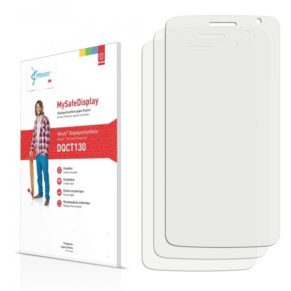 3x Vikuiti MySafeDisplay Screen Protector Prestigio MultiPhone 3501 DUO