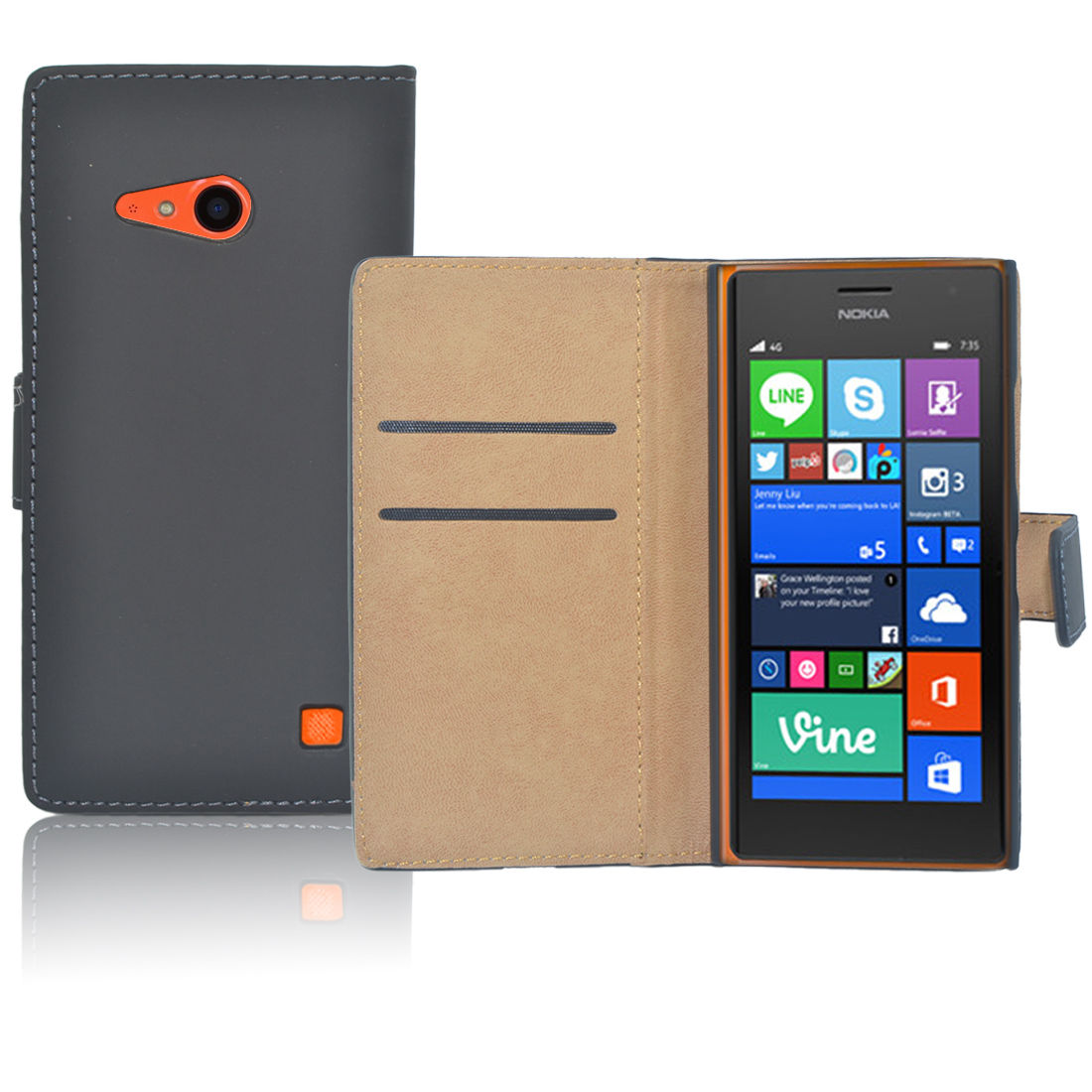 Pouzdro pro Nokia Lumia 735 černé