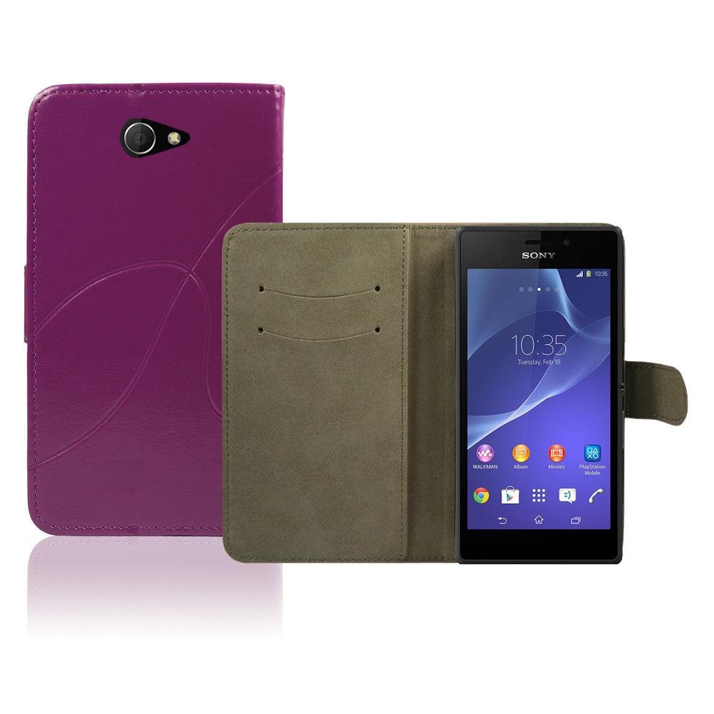 Pouzdro pro Sony Xperia M2 Violett