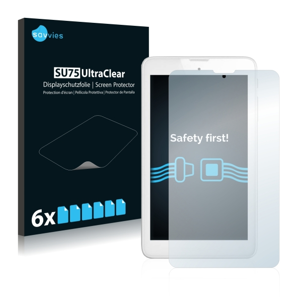 6x SU75 UltraClear Screen Protector Alcatel Pixi 3 (7.0)