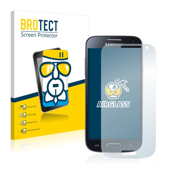 AirGlass Premium Glass Screen Protector Samsung Galaxy S4 Mini LTE (4G) I9195
