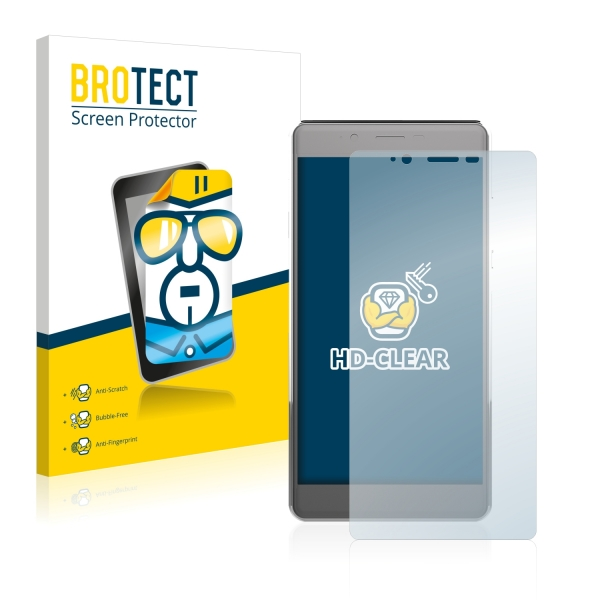 2x BROTECTHD-Clear Screen Protector Archos 55 Cobalt+